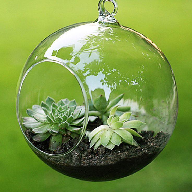 ファッション透明なクリアガラスラウンドテラリウム花植物スタンドぶら下げ花瓶水耕家オフィスの結婚式の庭の装飾f1