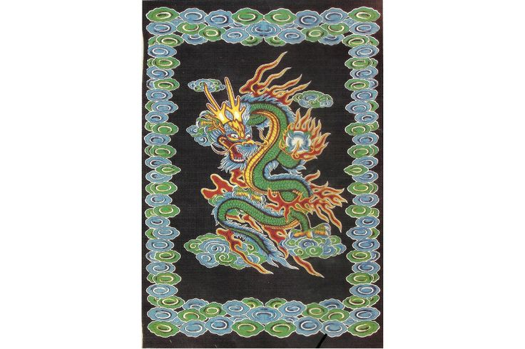 colcha india dragón