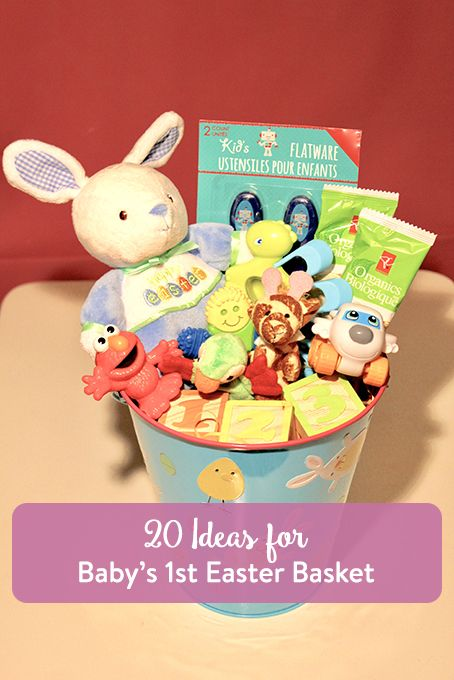 TheInspiredHome.org // 20 Ideas for Baby's First Easter Basket.