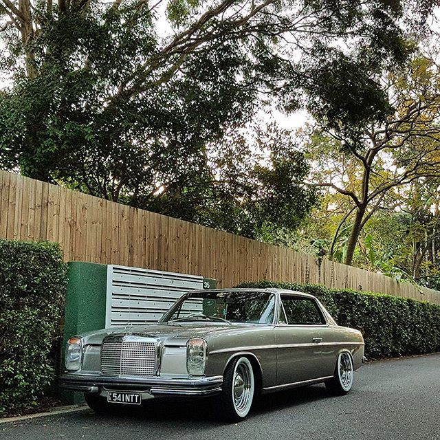 Turn 30 today.. car turns 46.. #w114OUTLAW #w114 #w115 #280ce #280e #250c #250ce #mercedes #stanceworks #stance #instacar #benz #mercedesbenz #fitspo #mercedesamg #instacars #carporn #drivetastefully #classic #strichacht #stroke8 #coupe #dkubus