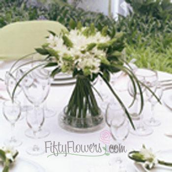 centerpiece  Star of Bethlehem Wedding Flower Box - 3 Table