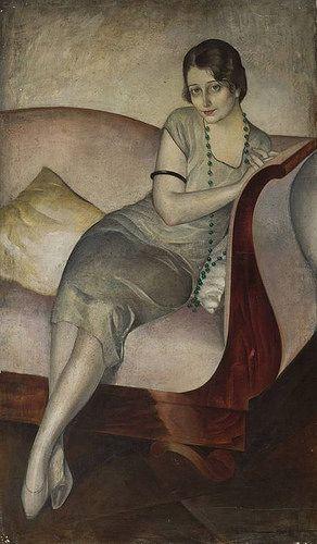 Jan Rudnicki - Portrait of a Lady on the Sofa | por irinaraquel: