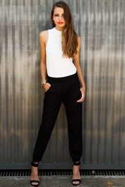 Tailored black pants by Mika and Gala