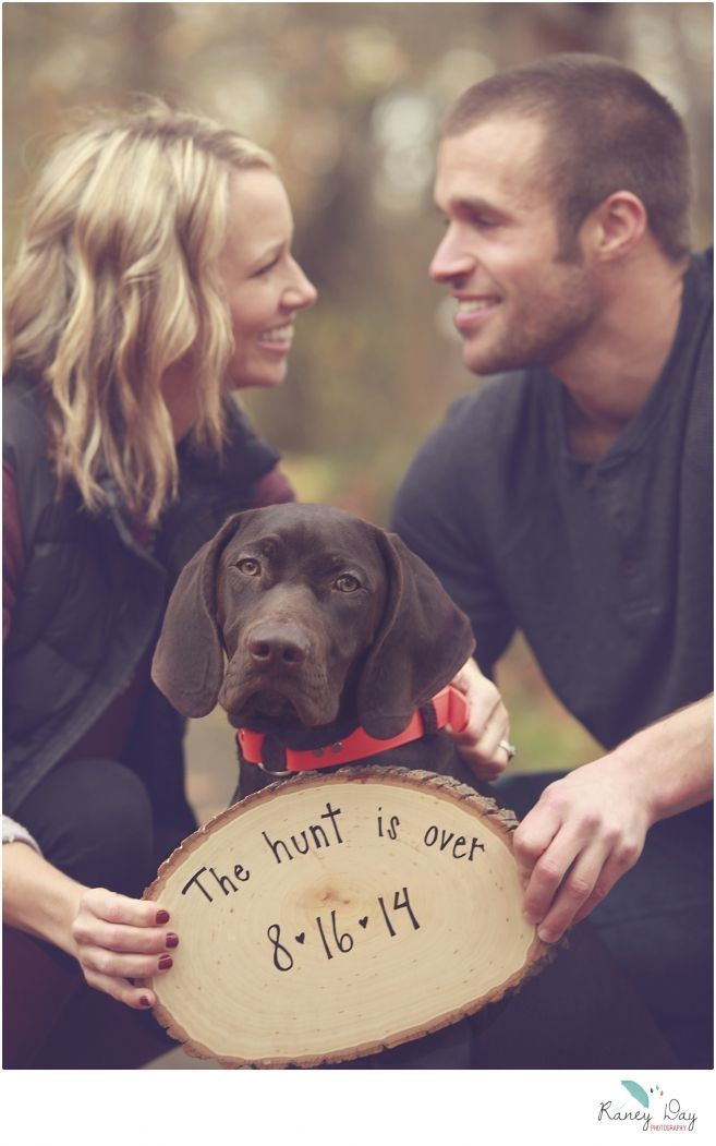Sister's Fall Engagement Photos @ Discovery Park in Seattle; The Hunt Is Over, german shorthair pointer | Raney Day Photography