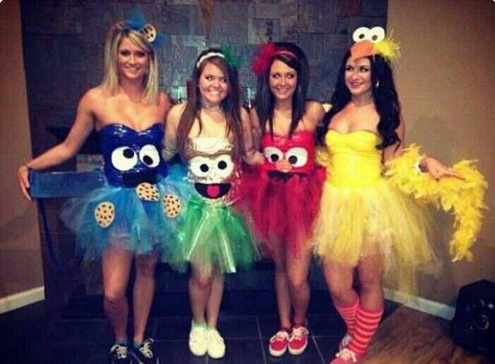 sesame street tutu costumes cookie monster oscar the grouch elmo big bird - Good Work Halloween Costumes