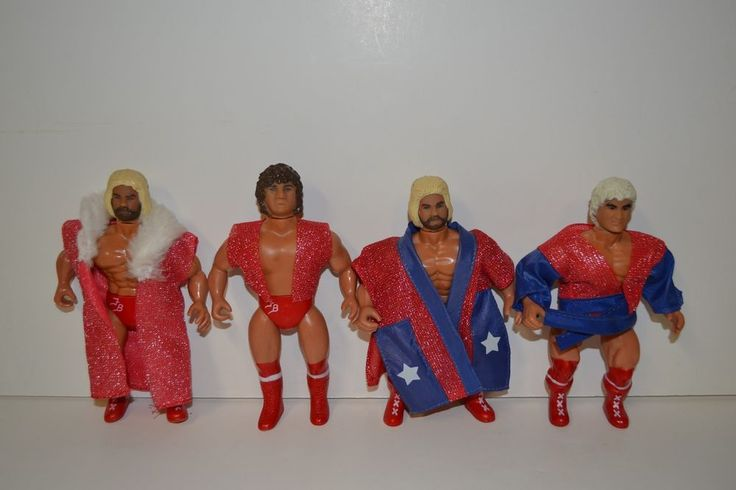 Vintage Remco 1985 Wrestling Figure Lot of 4 Fabulous Freebirds #Remco