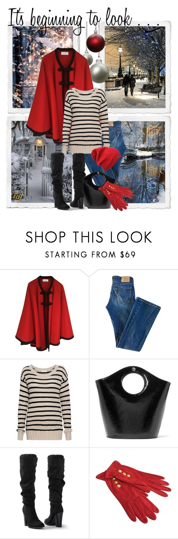 """It's Beginning To Look"" by lois-boyce-flack ❤ liked on Polyvore featuring Yves Saint Laurent, Levi's, A.L.C., Elizabeth and James, Venus and Emanuel Ungaro"