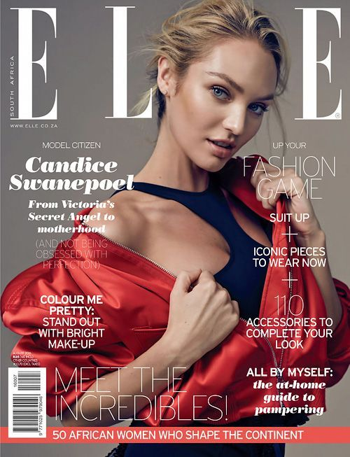 Candice Swanepoel - Elle South Africa August 2016