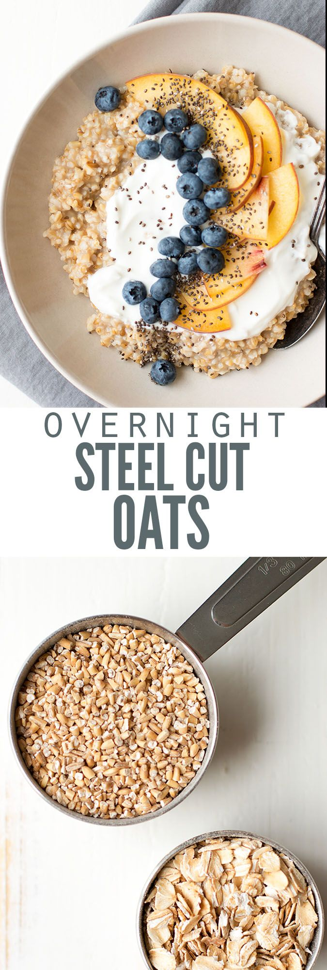 Overnight steel cut oats made perfect without a slow cooker. Toast the oats first for better flavor, they sit overnight then it's all about the toppings! :: DontWastetheCrumbs.com