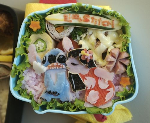 Lilo & Stitch Bento - this is amazing... more detailed anime bento designs on bentoboxlove.tumblr.com