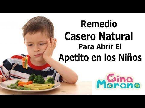 Remedio Casero  Natural para Abrir El  Apetito en los Niños (Gina Morano)