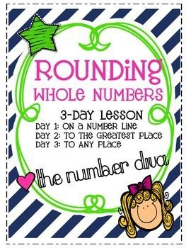 Rounding Whole Numbers. Awesome three day lesson!