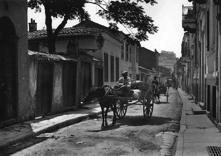 Greece old photos, Athens-Plaka-1920