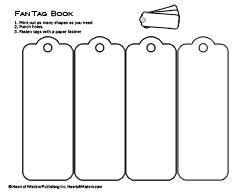 Lots of free Lapbook templates (to use with interactive notebooks) Fan booklet for lapbooks