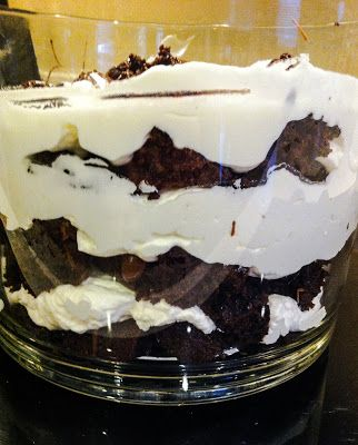Light mint brownie trifle that is fast and easy and perfect for a ...