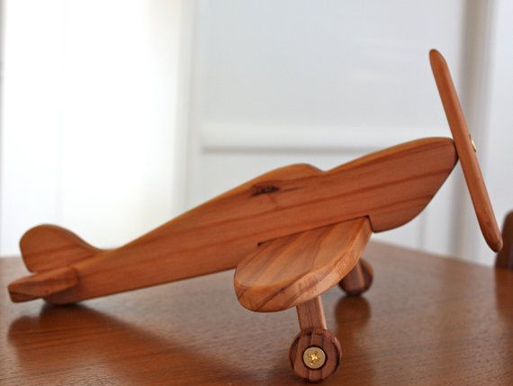 Toy Model Gallery : Spitfire airplane handcrafted wooden toy or decor