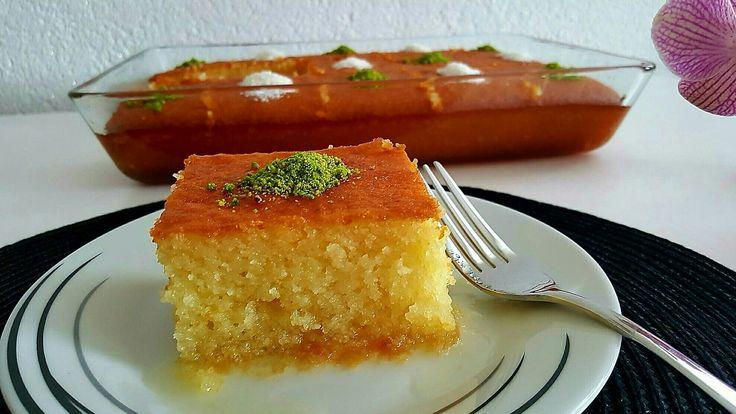 Portakallı Revani Tarifi(Lezzetli ve yapimi cok kolay)-Hatice Mazi
