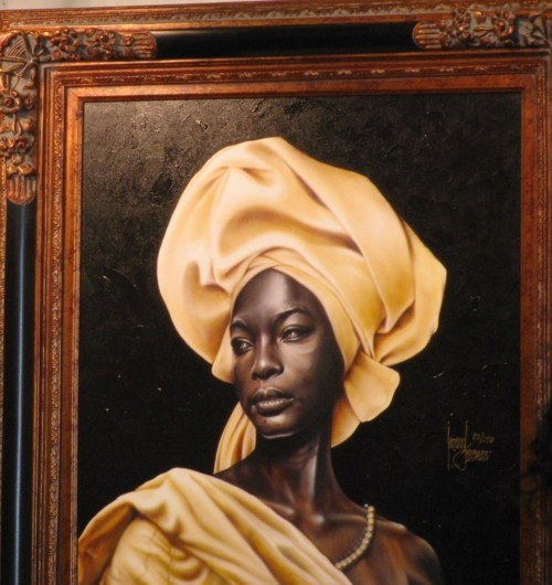 I still want this painting by artist Leonard Freeman. Isn't she beautiful?Blackart, African American, Global Headwrap, Beautiful Headwrap, Mulher Africanas, Leonard Freeman, Black Beautiful, Black Art, African Culture