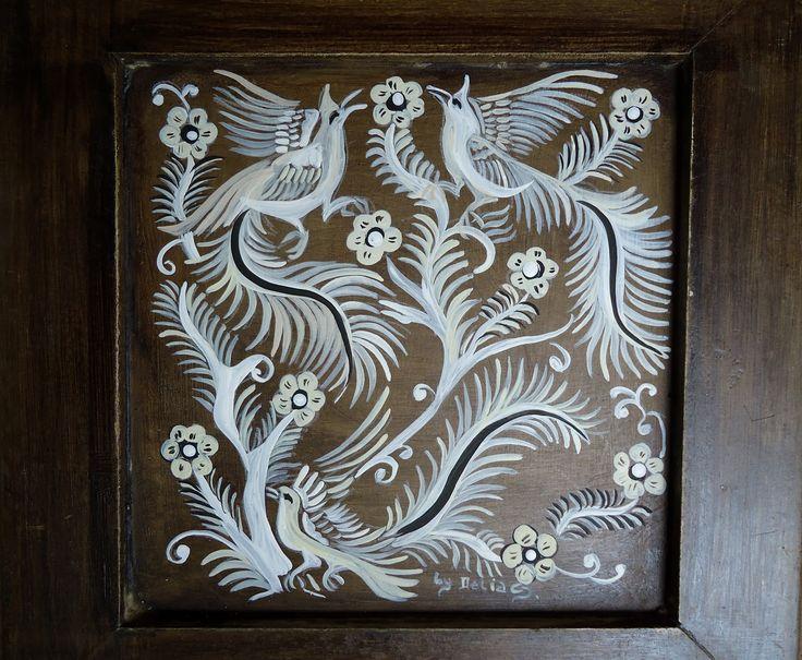 A Arte Mexicana da Pintura em , o Papel dos Deuses -  Papel Amate Bark Painting on wood by Delia Corecco Steiner  - http://fazendoartedmc.blogspot.com.br/2013/03/a-arte-mexicana-da-pintura-em-papel.html