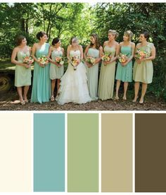 Color Palette: Antique Lace, Robin's Egg Blue, Sage Green, Tan, Brown ...