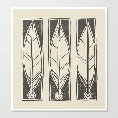 Ethnic Feathers Canvas Print by Nameless Shame - $85.00