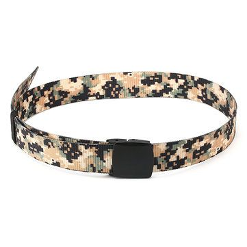 120CM Unisex Men Women Nylon Camouflage Belt Military Tactical Durable Buckle Pants Strip at Banggood