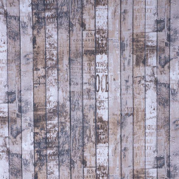Dekorační látka Dřevo hnědošedé
