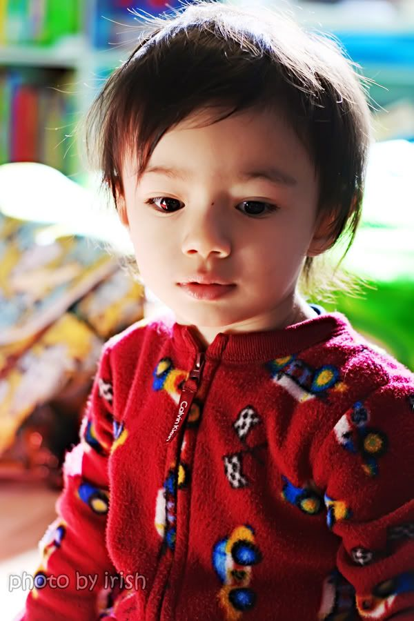 half asian/pacific islander. Cute mixed Asian baby!