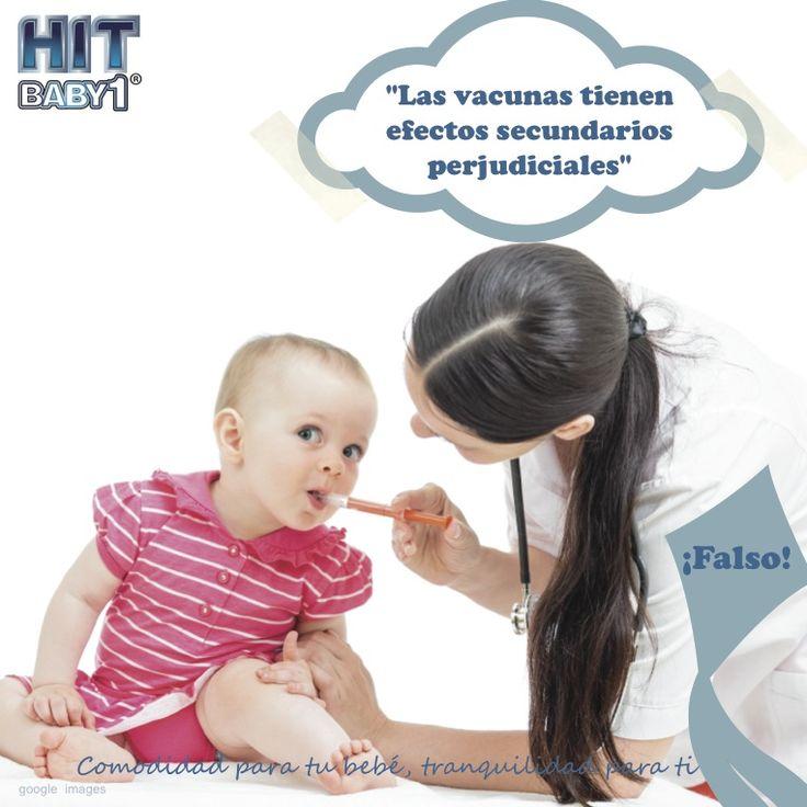 Creciendo con Hit Baby1: ¿Las vacunas pueden tener efectos secundarios perjudiciales? ¡Falso! Las vacunas son seguras y si aparecen reacciones éstas son leves y temporales. #niños #niñas #bebés #vacunas #mitos