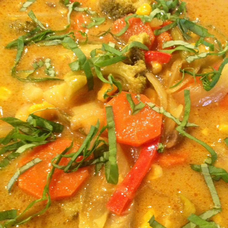 Easy Thai Yellow Vegetable Curry Using Trader Joe's Sauce, Quick, Easy, Cheap Weeknight Dinner! For about $10 from www.mrstraining.wordpress.com