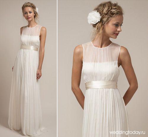 Греческое свадебное платье для беременных