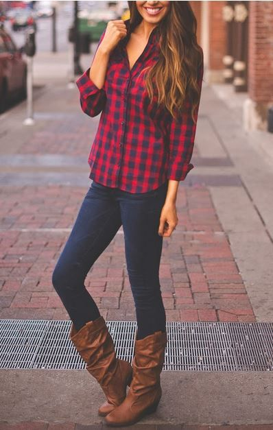 flannel and boots; ive been trying to find this shirt everywhereee!