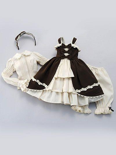 VOLKS - SDG/SD13G/SDGrG/SD16G/ DD/DDdy - Classical Ribbon Lolita (Brown)