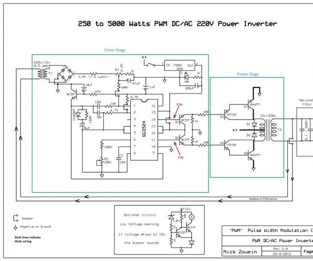 5kva Inverter Circuit Diagram In 2020 Power Inverters Circuit Diagram Acdc