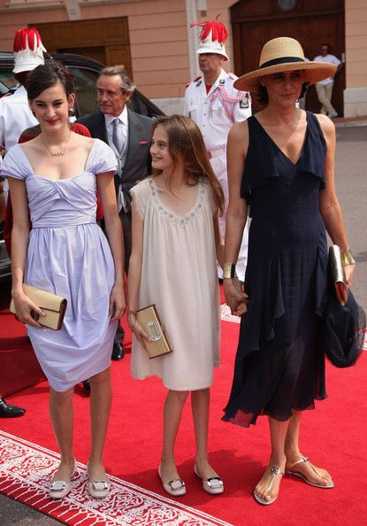 Nine d'Urso and Violette d'Urso Photos Photos - Nine d'Urso, Violette d'Urso and Ines de La Fressange attend the religious ceremony of the Royal Wedding of Prince Albert II of Monaco to Princess Charlene of Monaco in the main courtyard at the Prince's Palace on July 2, 2011 in Monaco. The Roman-Catholic ceremony follows the civil wedding which was held in the Throne Room of the Prince's Palace of Monaco on July 1. With her marriage to the head of state of the Principality of Monaco…