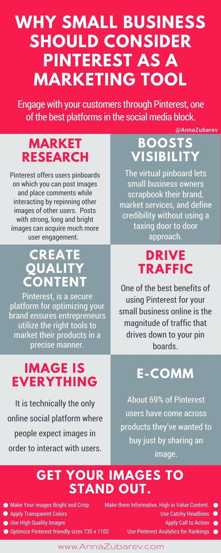Why Small Business Should Consider Pinterest as a Marketing Tool. via @annazubarev via @https://www.pinterest.com/annazubarev/