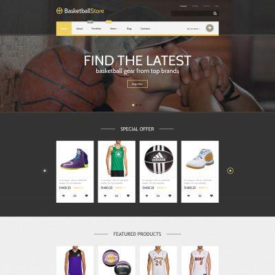 Basketball Store Responsive WooCommerce Theme