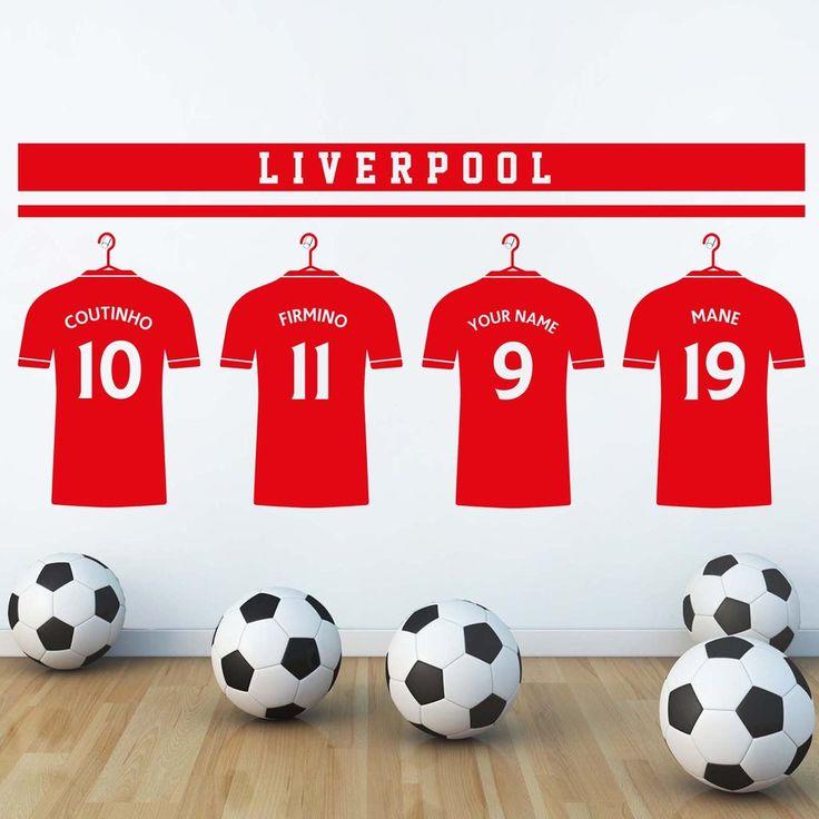 "Liverpool FC LFC Style ""Personalised Locker Room"" Wall Decal"