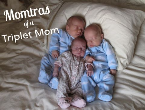 Momtras of a rookie mom of triplets - no, we're not having triplets, just looking for advice.