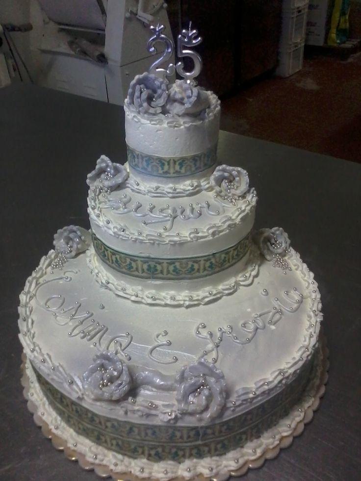 25th wedding anniversary Cake Cardone 1846