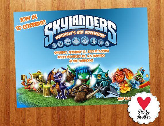 Skylander Invitations for amazing invitation layout