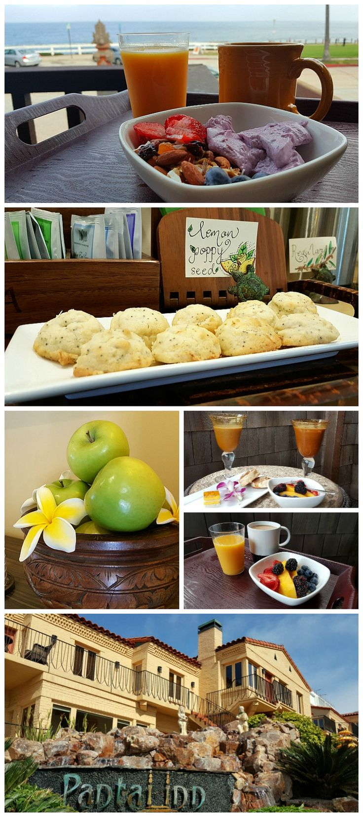 Breakfast (and more!) at Pantai Inn, La Jolla - San Diego, California Luxury Hotel