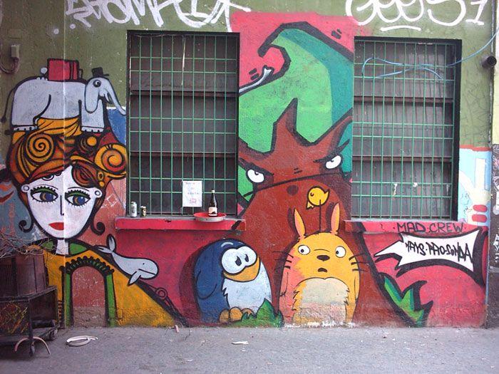 Pao's penguins meet Totoro?  Artists: Pao, Nais, Sonda Year: 2005 Where: La Stecca, Milano