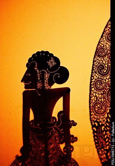 Shadow, or wayang, puppets,