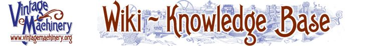 Knowledge base on vintage machinary