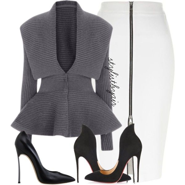 A fashion look from October 2015 featuring River Island skirts, Casadei pumps y Christian Louboutin pumps. Browse and shop related looks.