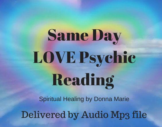 Same Day LOVE Psychic Reading 20min Psychic Reading medium