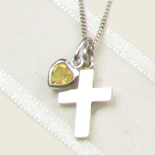 Elinor Rose November Birthstone Necklace #personalisedjewellery #childrensjewellery #birthdaygifts #birthstone #necklace