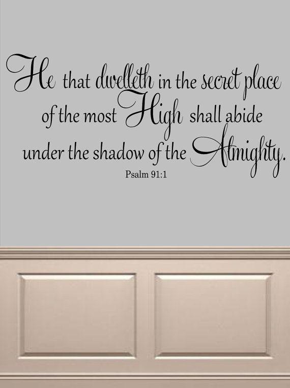 Psalm 91:1 KJV Bible Verse Vinyl Lettering by OZAVinylGraphics