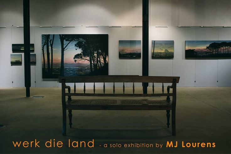 """MJ Lourens 10th solo show at Stephen Welz & Co Cape Town. 2015. """"Werk  die Land"""" contemporary South African artist - featuring amazing cloudscapes, landscapes, sunsets, Cape Town. South Africa"""
